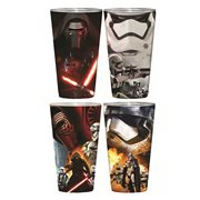 Star Wars Episode VII The Force Awakens Villain Poster Wrap Pint 4 Pack