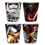 Star Wars Episode VII The Force Awakens Villain Poster Wrap Shot Glass 4 Pack