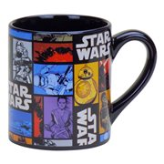Star Wars Episode VII The Force Awakens Grid 14 oz Ceramic Mug