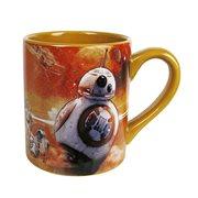 Star Wars Episode VII The Force Awakens BB 8 Orange 14 oz Ceramic Mug