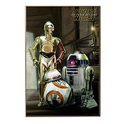 Star Wars Episode VII The Force Awakens The Droids Wall Art
