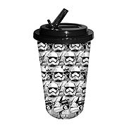 Star Wars Episode VII The Force Awakens Allover Troop Faces 16 oz Flip Straw Cup