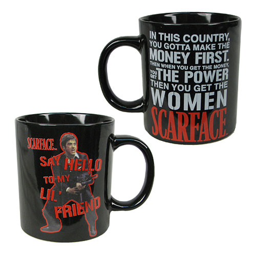Scarface Say Hello To My Lil' Friend 14 oz. Ceramic Mug