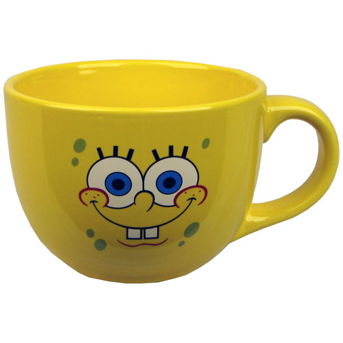 SpongeBob Squarepants Face 24 oz. Soup Mug