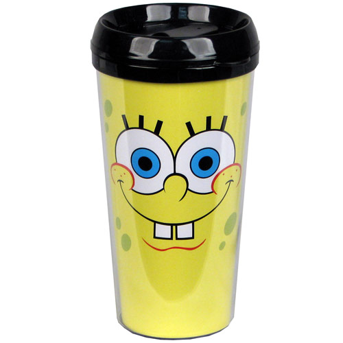 SpongeBob SquarePants Face 16 oz. Plastic Travel Mug
