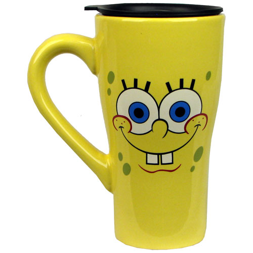 SpongeBob Squarepants Face 18 oz. Ceramic Travel Mug