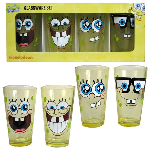 SpongeBob SquarePants Yellow 16 oz. Pub Glass 4-Pack