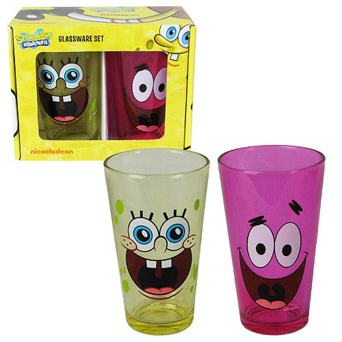 SpongeBob SquarePants and Patrick Star Pub Glasses 2-Pack