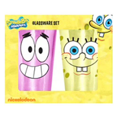 SpongeBob SquarePants Grin Yellow 16 oz. Pint Glass 2-Pack