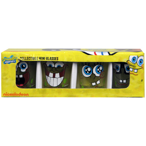 SpongeBob SquarePants Mini Glass 4-Pack