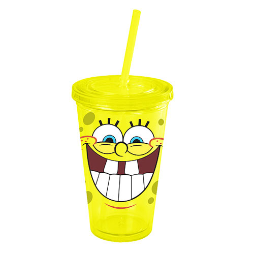 SpongeBob SquarePants Laugh Plastic Travel Cup