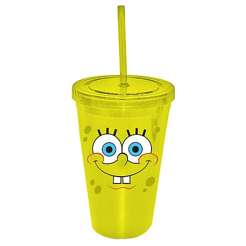 SpongeBob SquarePants Face 16 oz. Plastic Travel Cup