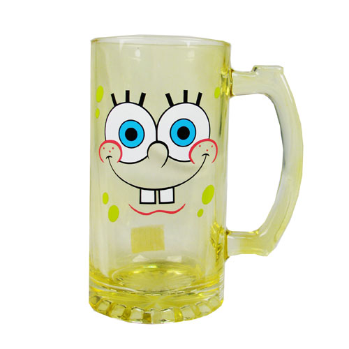SpongeBob SquarePants Yellow 25 oz. Glass Stein