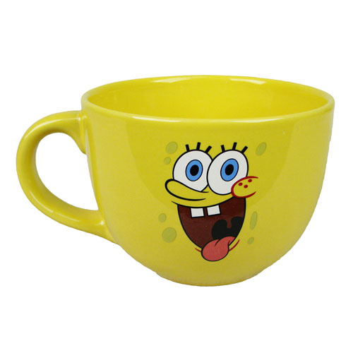 SpongeBob SquarePants Tongue Cheeks 24 oz. Ceramic Soup Mug
