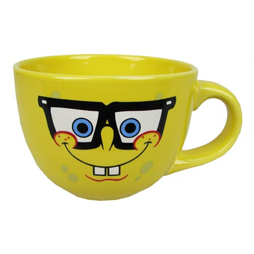SpongeBob SquarePants with Glasses 24 oz. Ceramic Soup Mug