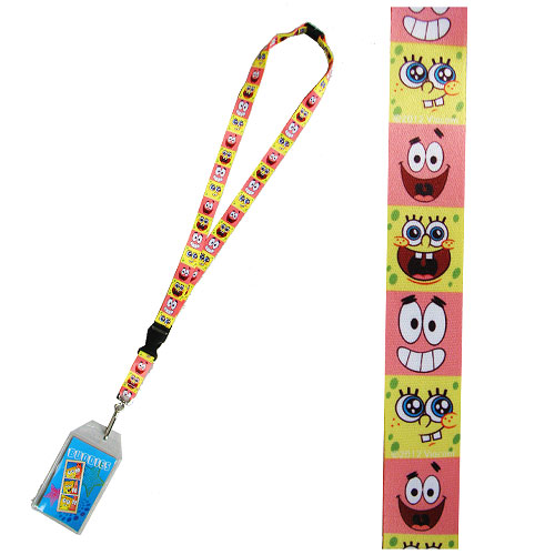 SpongeBob SquarePants and Patrick Lanyard with ID Holder