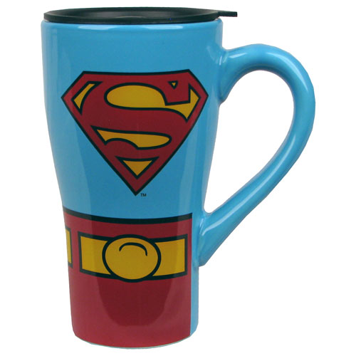 Superman Uniform 18 oz. Ceramic Travel Mug