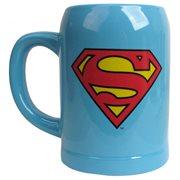 Superman Logo Blue Ceramic Stein