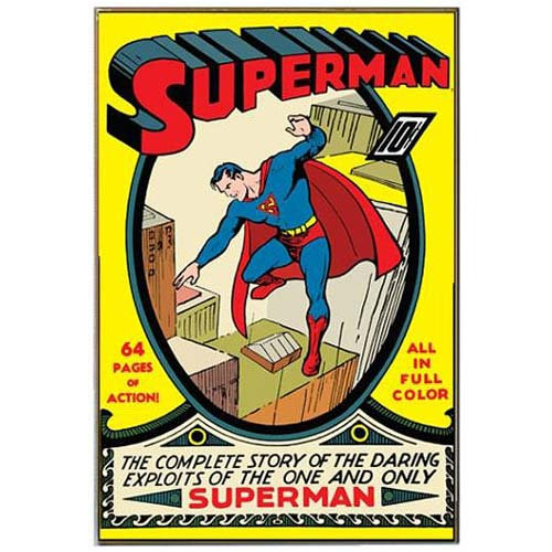 Superman Complete Story Comic Book Cover Wood Wall Artwork