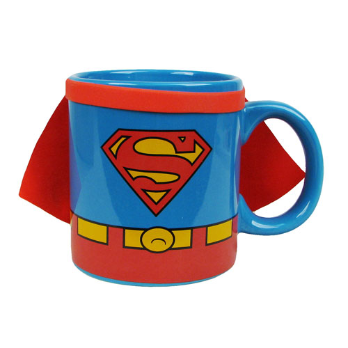 Superman Uniform with Cape 20 oz. Jumbo Ceramic Mug