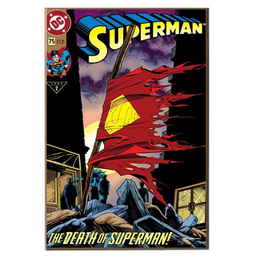 Superman Death of Superman Wood Wall Sign