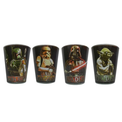 Star Wars Characters with Names Mini-Glass 4-Pack