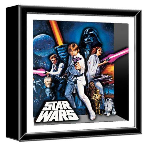 Star Wars A New Hope Wood Shadow Box