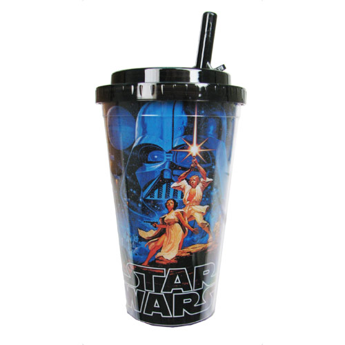 Star Wars Classic Plastic 16 oz. Flip-Straw Travel Cup