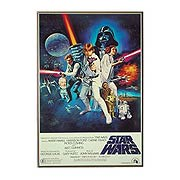 Star Wars A New Hope Poster Wood Wall Art