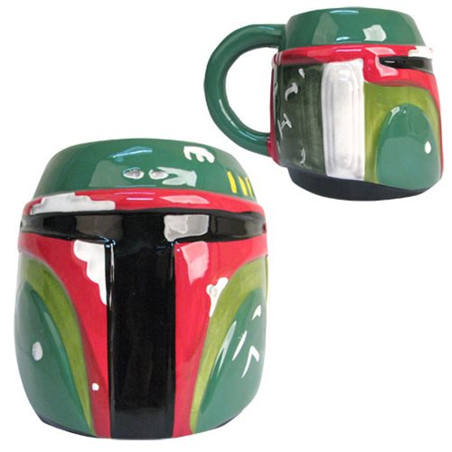 Star Wars Boba Fett Head 3D Mug