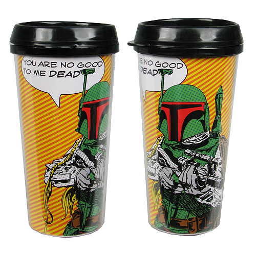 Star Wars Boba Fett Comic 16 oz. Plastic Travel Mug