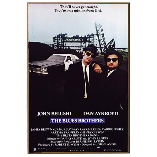 Blues Brothers Movie Poster Wood Wall Artwork