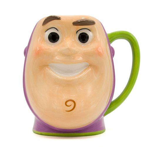 Disney Toy Story Buzz Lightyear Playtime Face 3D Sculpted Mug