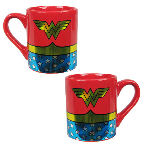 Wonder Woman Uniform 14 oz. Ceramic Laser Print Mug