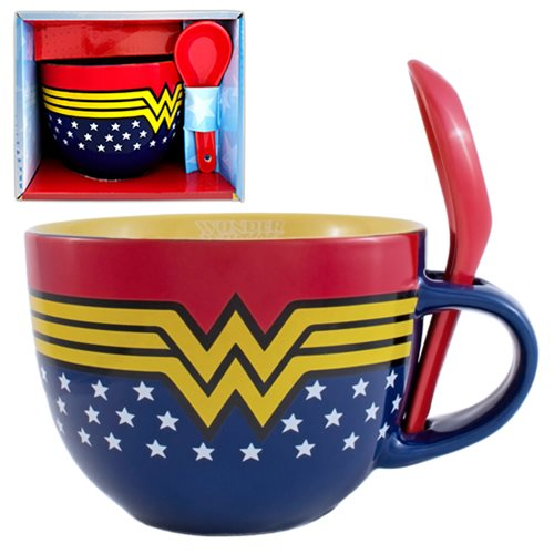 Wonder WomanSoup Mug with Spoon