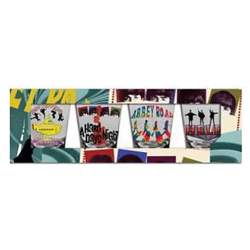 The Beatles British Invasion Shot Glass 4-Pack