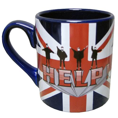 The Beatles Help! Union Jack British Flag Mug
