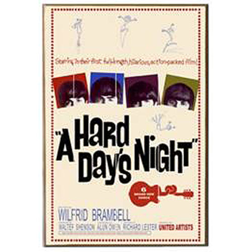 The Beatles A Hard Day's Night Wood Wall Art