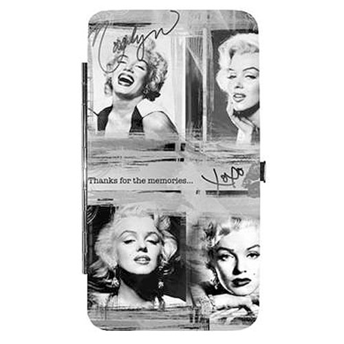 Marilyn Monroe Collage Black and White Hinge Wallet