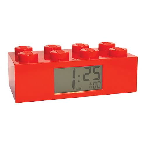 LEGO Red Brick Alarm Clock