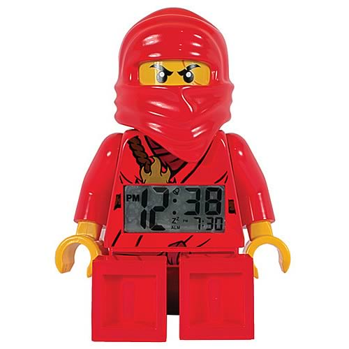 lego ninjago kai minifigure clock schylling ninjago clocks at entertainment earth. Black Bedroom Furniture Sets. Home Design Ideas