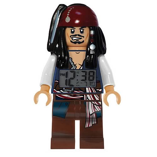 LEGO Pirates of the Caribbean Jack Sparrow Clock