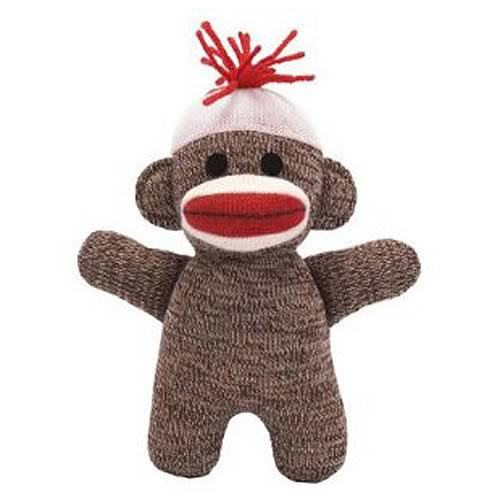 Sock Monkey Baby 7-Inch Brown Plush