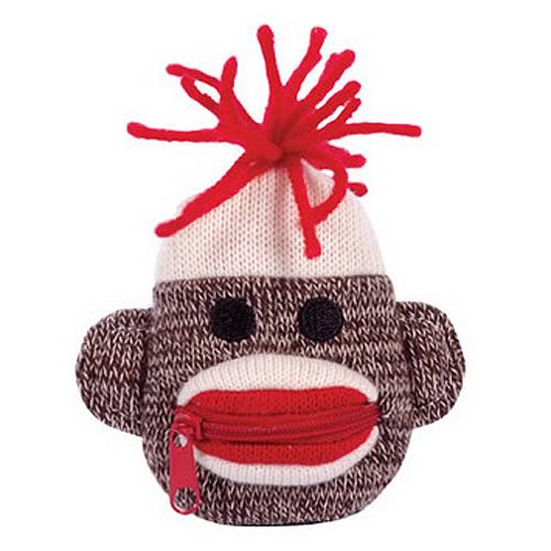 Sock Monkey Plush Coin Purse