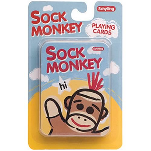 Sock Monkey Playing Cards