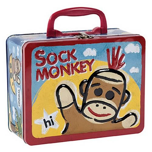Sock Monkey Tin Tote