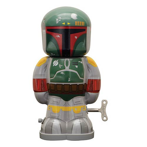 Star Wars Boba Fett 7 1/2-Inch Wind-Up Tin Toy