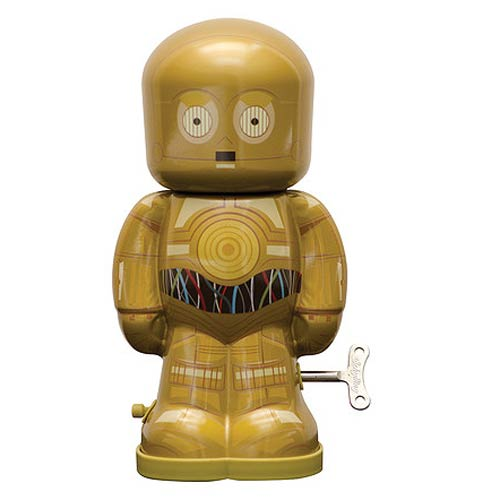 Star Wars C-3PO 7 1/2-Inch Windup Tin Toy