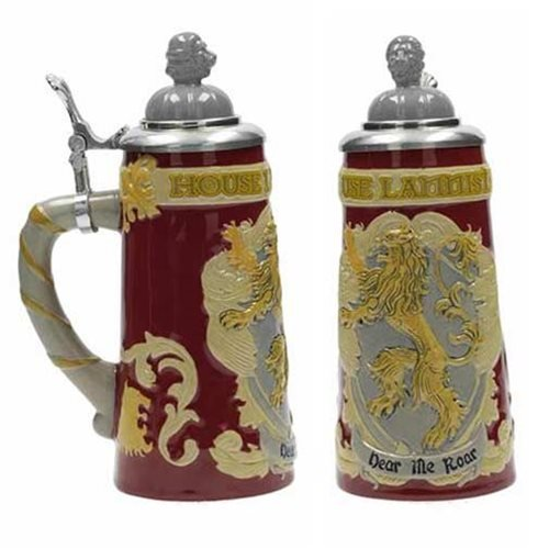 Game of Thrones House Lannister Ceramic Stein with Cap