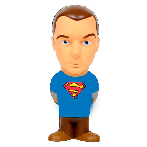Big Bang Theory Sheldon Cooper Superman Stress Toy, Not Mint